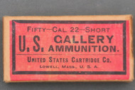 U.S. Cal. 22 Short Gallery Ammunition Target Cartridges