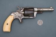 Engraved Hopkins & Allen Mfg Co Blue Jacket No. 2 Revolver with Bone Grips