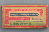 Peters .32 Long Rim Fire Improved Semi-Smokeless Shot Cartridges Top View
