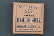 Union Metallic Cartridge Co. 32 Rim Fire Blank Cartridges Circa 1897 Front Side