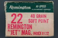 22 Rem Jet Magnum Hi-Speed Cartridges Left End