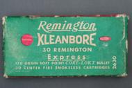 Remington Kleanbore 30 Remington Express 170 Grain Core-Loct Cartridges Top