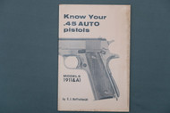 Know Your .45 Auto Pistols Models 1911 & A1 by E.J. Hoffschmidt