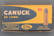 Canuck 32 Long Rim Fire Cartridges Top