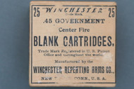 25 Winchester .45 Government Center Fire Blank Cartridges Top