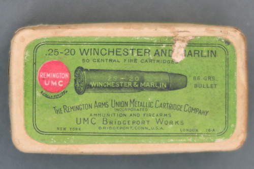 .25-20 Winchester and Marlin Central Fire Cartridges by Remington Arms UMC Co Top