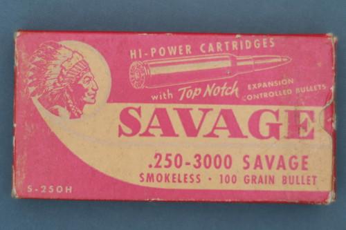 .250-3000 Savage Large Indian Top Notch Box Top
