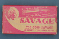 .250-3000 Savage Large Indian Top Notch Box Top