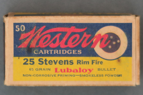 Western 25 Stevens Rimfire Ammunition Top