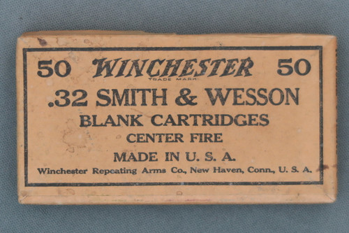 Winchester .32 Smith & Wesson Blank Cartridges Center Fire Top