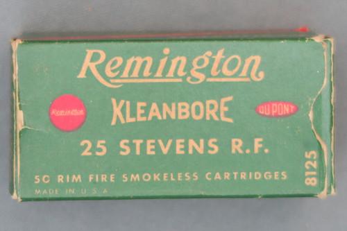 Remington Kleanbore 25 Stevens Rim Fire Ammunition Top