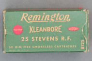 Remington Kleanbore 25 Stevens Rim Fire Ammunition Top