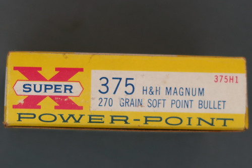 375 H&H Magnum Ammo by Western End Flap