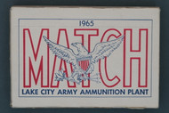 1965 Lake City National Match M72 Ammunition Front