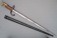 French Model 1874 Gras Rifle Bayonet in Scabbard Right Side