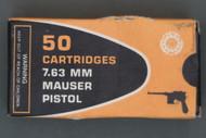 7.63 Mauser Pistol Ammunition Top