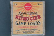 Remington Nitro Club Long Range 16 Ga. Duck Load Top Label