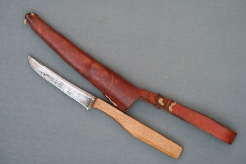 Handmade Trout/Small Game Knife Made From Admiral Dewey Straight Razor