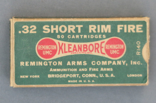 32 Short Rim Fire Cartridges by Remington Arms Co.