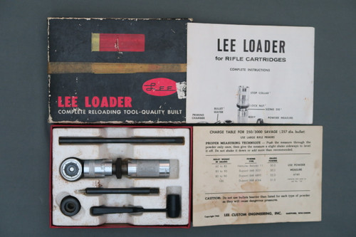Lee Loader for 250/3000 Savage Cartridges