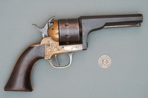 Moore's Patent Firearms Co. S.A. Belt Revolver S# 5081 Right Side
