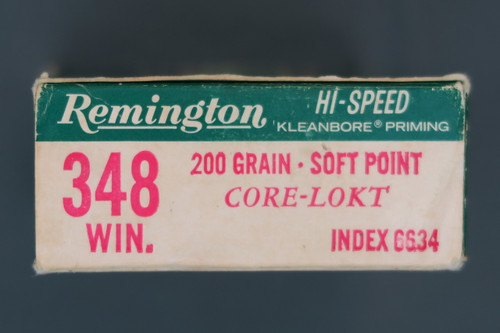 348 Winchester 200 Grain Ammo by Remington End Flap
