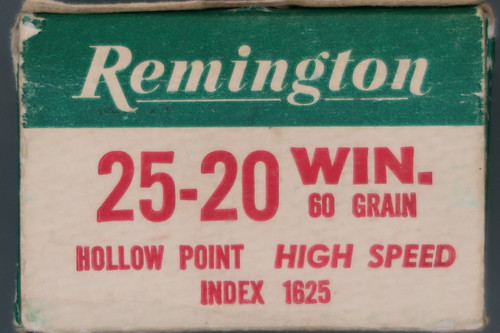 25-20 Winchester Hollow Point High Speed Ammunition by Remington End Flap
