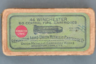 44 Winchester Central Fire Cartridges by Remington Arms Union Metallic Cartridge Co. Top Label