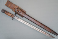 English Pattern 1907 Second Model Bayonet by Chapman in WW1 Scabbard Right Side