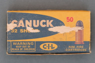 Canuck 32 Short Rim Fire Ammo Top