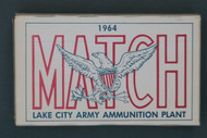 Lake City Arsenal Caliber .30 Match 1961 Ammunition