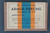 Des Moines Ordnance Plant Caliber .30 M2 Armor Piercing Cartridges