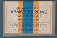 St. Louis Ordnance Plant Caliber .30 M2 Armor Piercing Cartridges #2