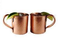 14 oz Pure Copper Hammered Moscow Mule Mugs Set of 2