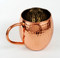 16 oz Hammered Barrel Shape Pure Copper Mug with Nickel Lining