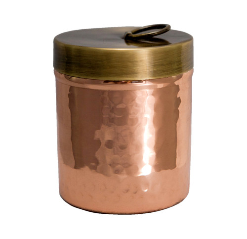 Pure Copper Jar With Brass Lid