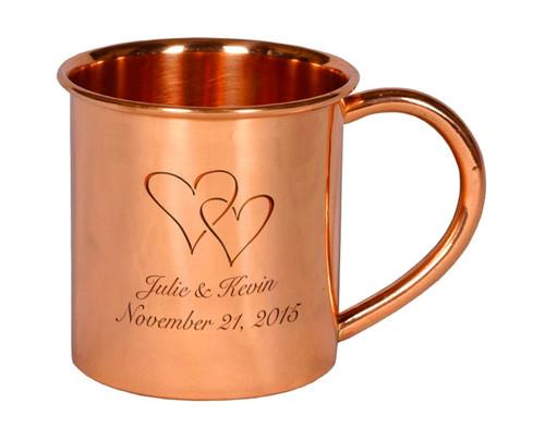 Custom Engraved Copper Moscow Mule Mug
