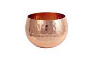 Medium hammered copper bowl