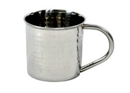 hammered stainless steel mug 14 oz