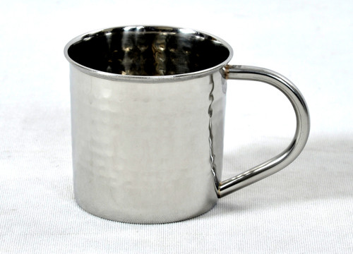 14 oz hammered stainless steel mug