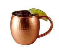 16 oz Hammered Barrel Shape Moscow Mule Pure Copper Mug