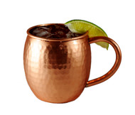 16 oz Hammered Barrel Shape Moscow Mule Pure Copper Mug