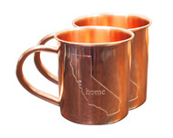 California Home Copper Mugs - Set of 2 14 oz Mugs