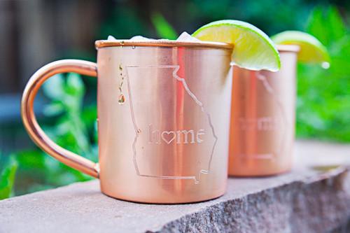 Georgia Home Copper Mugs - Set of 2 14 oz Mugs