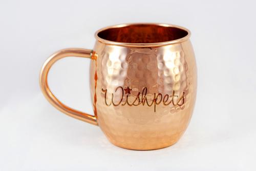 16 oz Hammered Barrel Mug with Logo