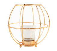 Copper Wire Votive Candle Holder Lantern