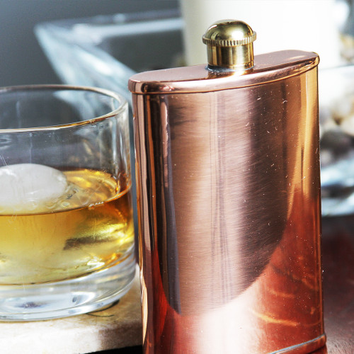 100% Pure Copper Flask