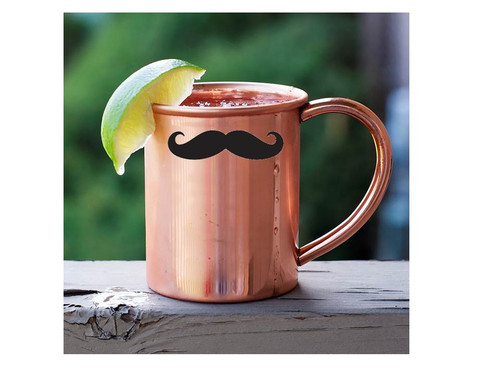 Mustache Moscow Mule Copper Mug