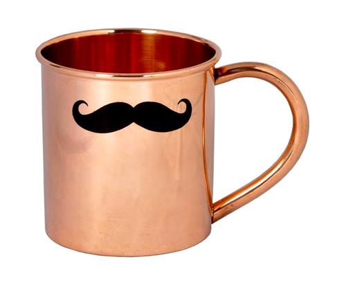 Mustache Copper Moscow Mule Mug