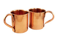 Set of 2 Pure Copper Moscow Mule Mugs with Handle